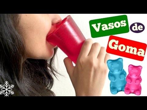 DIY - Vasos de Goma Comestibles