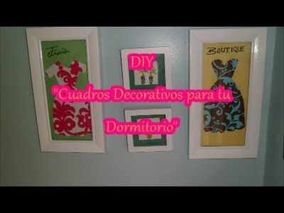 "DIY ""Wall Art Decor"".""Cuadros decorativos para tu Dormitorio"""