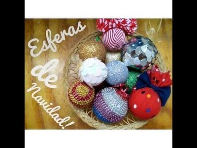 Esferas para arbolito de NAVIDAD! • DIY :)
