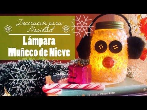 Lampara muñeco de nieve para decorar | DIY de navidad | CookingPaper