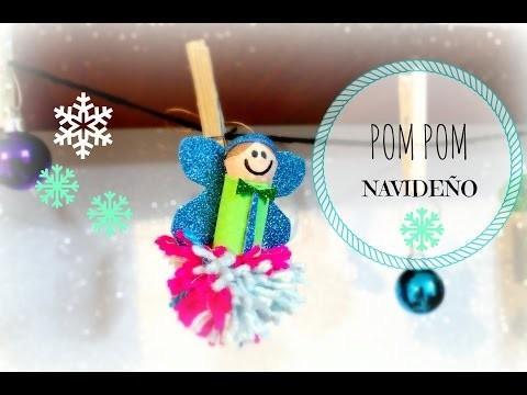 PomPom navideño. DIY decoración navidad. christmas crafter