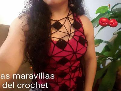 Blusa en crochet primavera verano