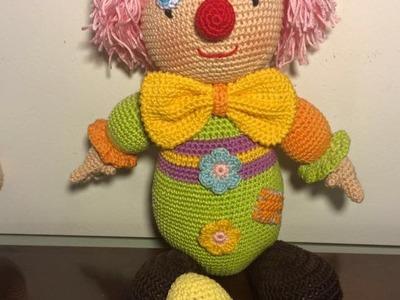 Cabeza payaso amigurumi paso a paso 1.6 tejido en crochet