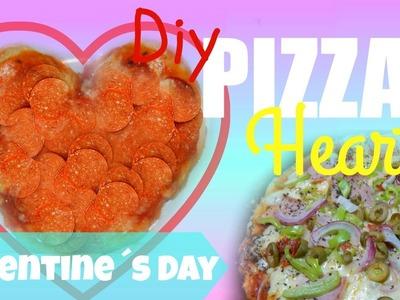 DIY Heart Shaped PIzza || Pizza en Forma de Corazon