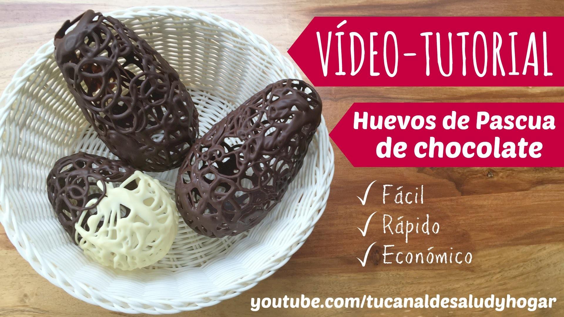 Huevos de Pascua de chocolate diy
