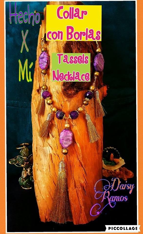 Collar de Borlas, Tassels Necklace DIY, Alambrismo