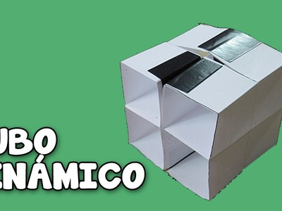Como Hacer Un Cubo Que Gira Para Todos Los Lados│How To Make a Homemade Paper Origami Cube