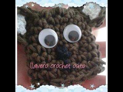 Como hacer un llavero de crochet de osito paso a paso amigurumi