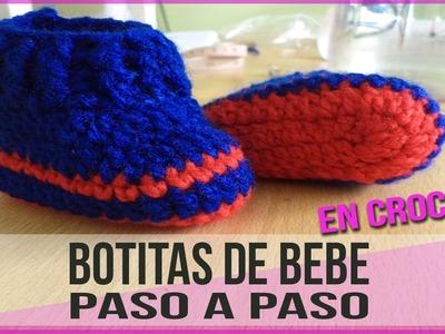 Botitas Para Bebe Recien Nacido - Tejidos En Crochet