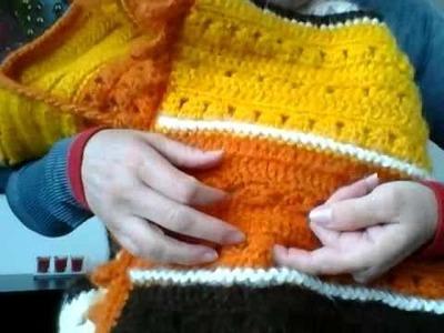 Chaleco de crochet de colores