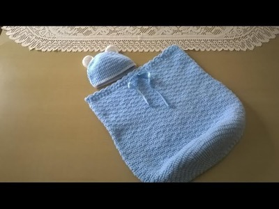 Cocoon, capullo o sobre de dormir con gorrito: Como tejerlo en crochet o ganchillo