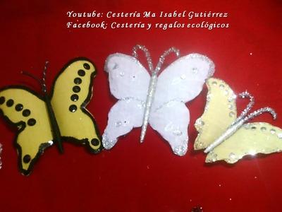 Como hacer mariposas de plástico desechable DIY. How to make plastic butterflies
