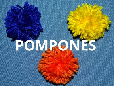 Como hacer Pompones tutorial paso a paso. (Subt. ENGLISH)