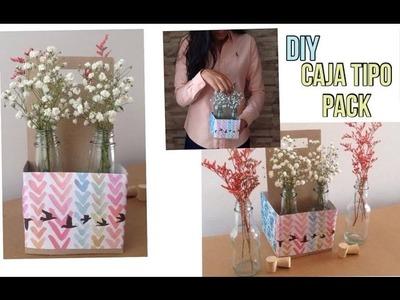 Como hacer una caja tipo pack (canasta) para decorar I DIY