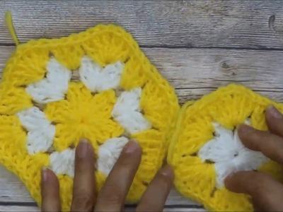 Como Tejer un Hexagono en crochet