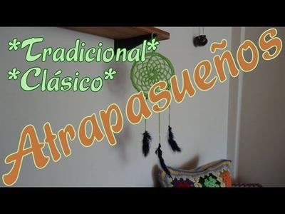 Crochet - Atrapasueños tradicional y clásico (traditional dreamcatcher) -tejido para zurdos-