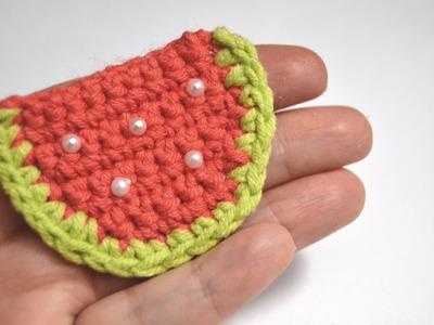 Crochet: Sandía plana (fácil)