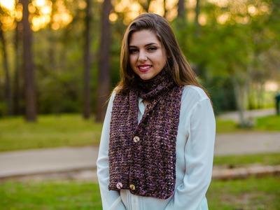 Cuello bufanda tejido a crochet Punto trios con trios 02