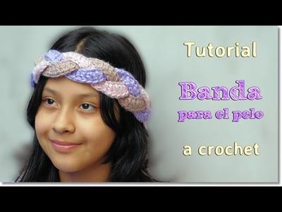 DIY Banda para el pelo a Crochet, Paso a Paso.