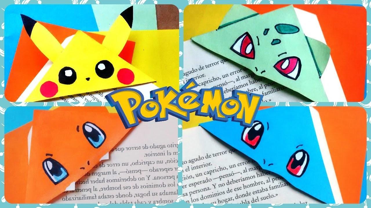 DIY: Como hacer unos hermosos marcapáginas.separadores pokémon