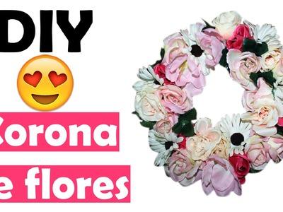 DIY ♥ Corona de flores ♥ Decoración