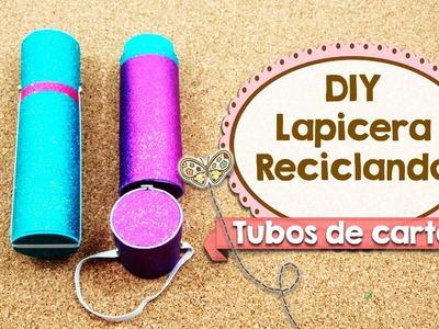 DIY | Lapicera Hecho con Tubos de Cartón | Fácil | Reciclaje