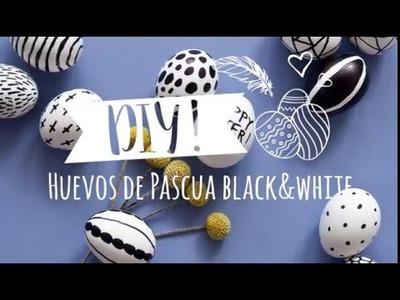 DIY Westwing | Cómo decorar huevos de Pascua: original blanco y negro