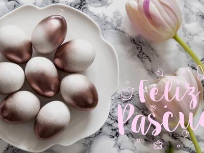 DIY Westwing | Cómo pintar huevos de Pascua con spray efecto sombreado