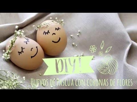 DIY Westwing | Decoración de huevos de Pascua con coronas de flores