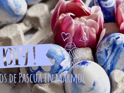 DIY Westwing | Ideas originales para pintar huevos de Pascua: efecto mármol