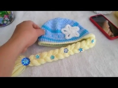 Gorro a crochet de Elsa de Frozen parte 2