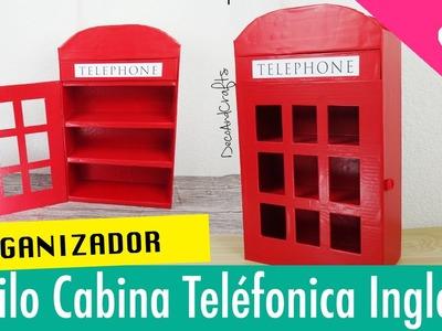 Organizador Cabina Telefonica Inglesa de Cartón DIY - DecoAndCrafts