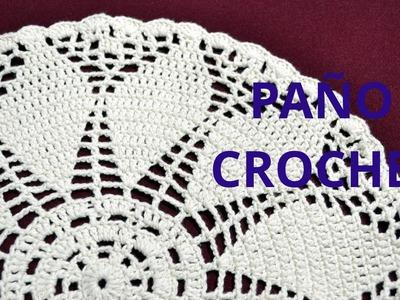 Paño Redondo en tejido crochet tutorial paso a paso.