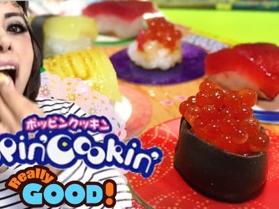 Probando Popin cookin Sushi de Dulce DIY kit para hacer dulces Japoneses