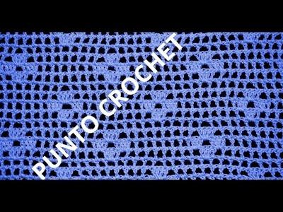 Punto Fantasía N° 69 en tejido crochet tutorial paso a paso.