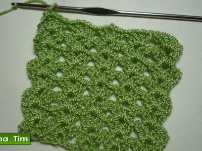 Tejido a CROCHET. Punto (puntada) # 385. Videos de crochet.