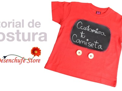 Tutorial #34 - DIY Camiseta Customizada con Tela de Pizarra -