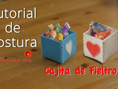 Tutorial #35 - Como hacer una Cajita de Fieltro - How to make a box of felt