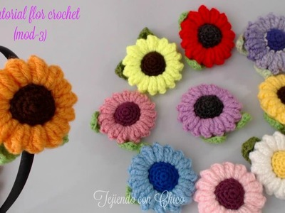 Tutorial flor crochet (mod-3)