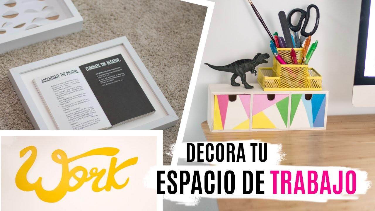 5 DIYs para decorar tu escritorio & espacio de trabajo