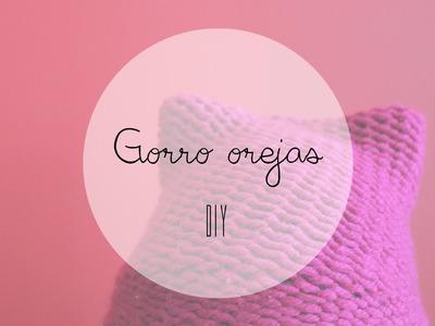 DIY GORRO CON OREJAS (TELAR CIRCULAR)
