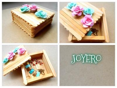 DIY joyero con palos de paleta