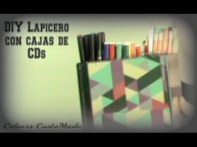 DIY Lapicero con cajas de CD´s. Colours CustoMade