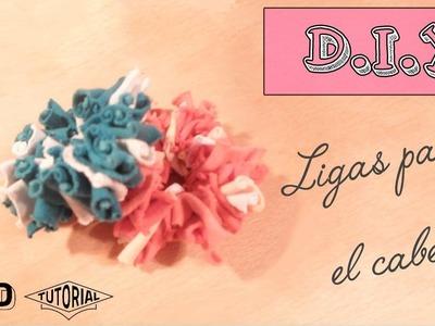 |  DIY  | Ligas o gomitas para el cabello - CON RETAZOS DE TELA