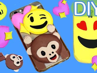 Funda para celular de goma Eva con emojis o emoticonos #emojicrafts