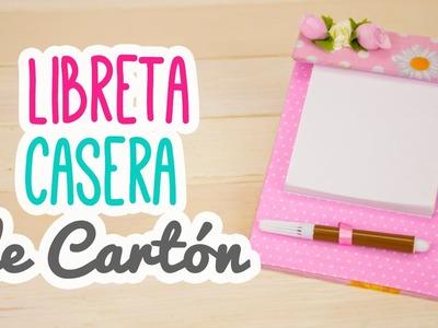 Haz tus propias Libretas Caseras de Cartón ♥ | Post It Casero | Cartonaje Catwalk
