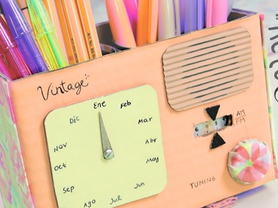 #RetoCrafty: Radio vintage con Calendario y Lapicero ✎ Craftingeek