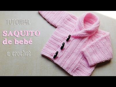 Abrigo de bebé unisex - Tutorial Crochet paso a paso (1 de 2)