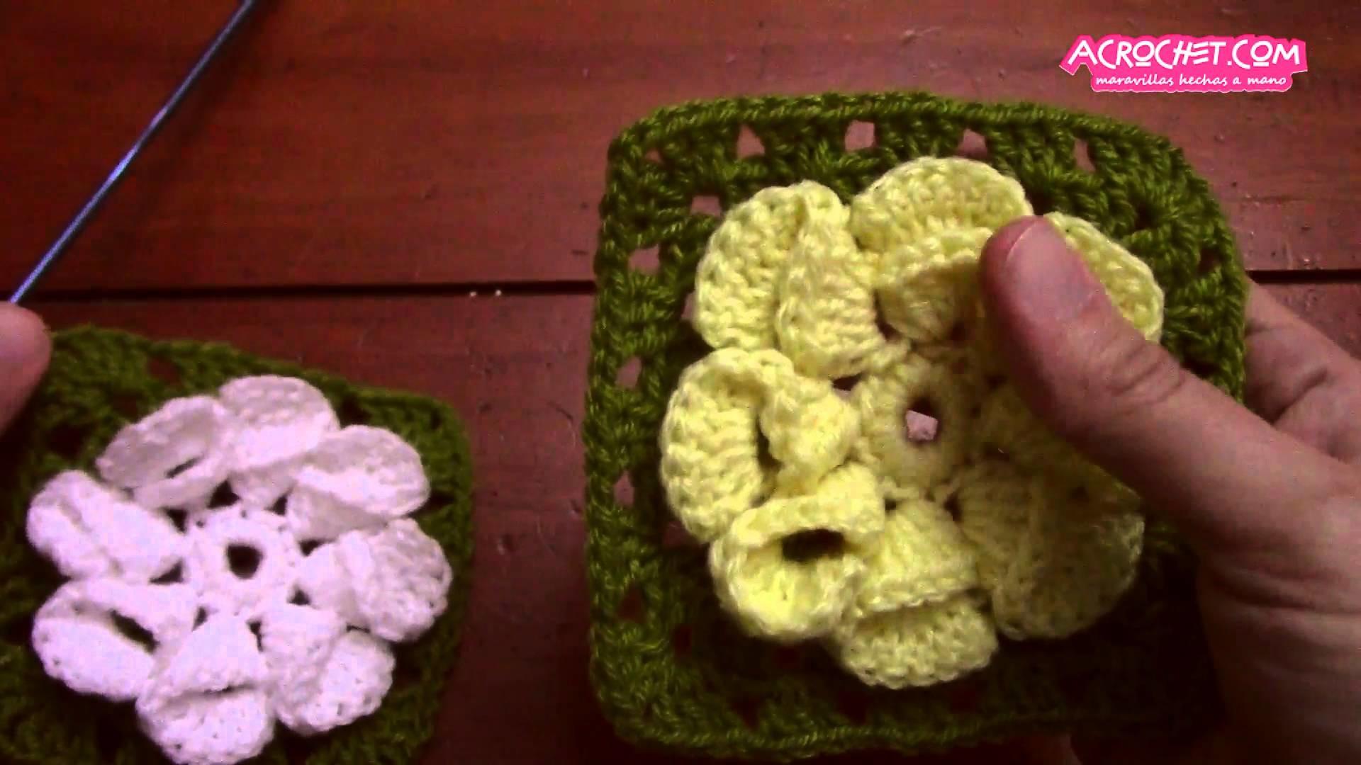 Blog Acrochet Flor sencilla de cartuchos – base y uniones Gisella Kamiche