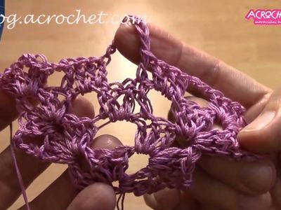 Blog Acrochet Un chal en puntada araña Parte 1 Gisella Kamiche